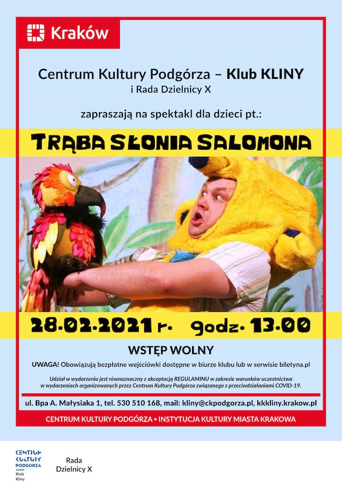 Spektakl dla dzieci pt. Trąba Słonia Salomona