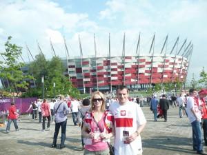 Piłkarskie Euro 2012 - największa impreza sportowa w historii Polski! Za chwilę wchodzimy na Narodowy. Warszawa - 2012.