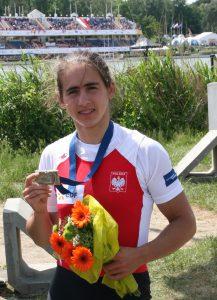 Maria Springwald z brązowym medalem wywalczonym na Mistrzostwach Europy 2015 w Poznaniu.