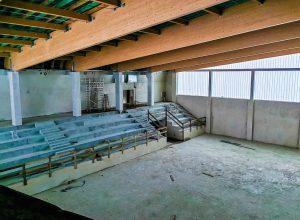 Wnętrze hali sportowej - październik 2020 r.